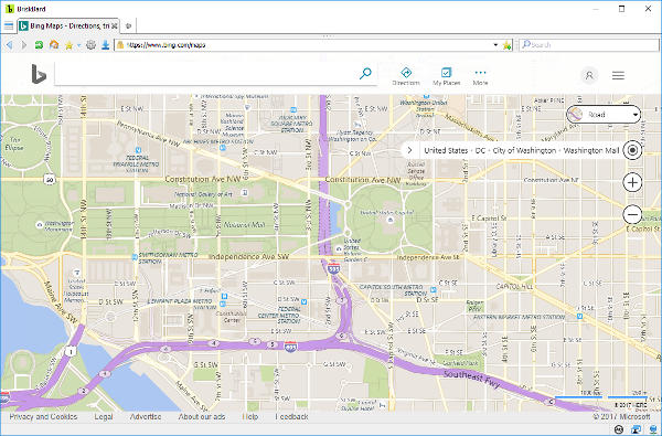 Bing Maps on BriskBard