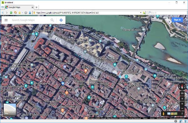 Google Maps en BriskBard