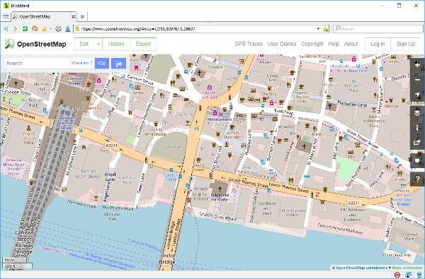 OpenStreetMap on BriskBard