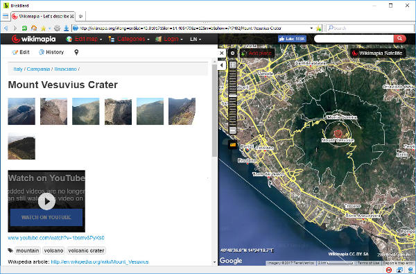 Wikimapia on BriskBard