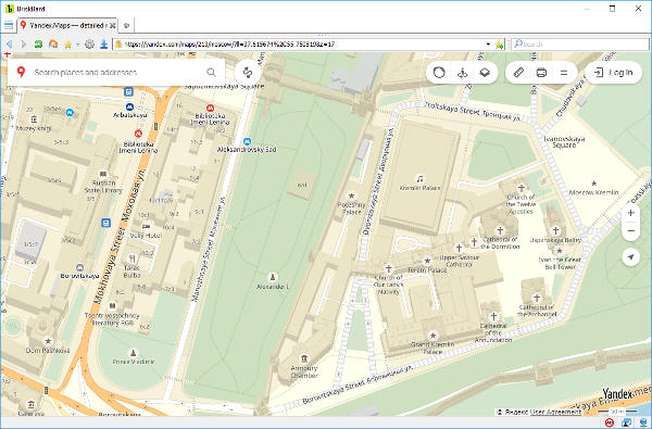 Yandex Maps on BriskBard