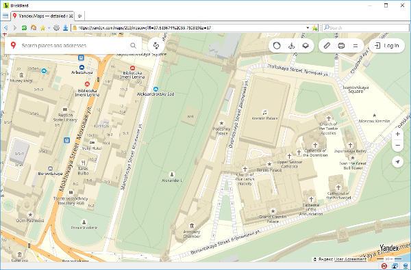 Yandex Maps en BriskBard