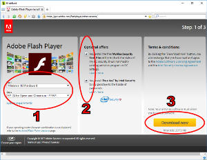 how do I install Adobe Flash Player™ in BriskBard?