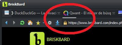 Scroll bar for tabs in BriskBard